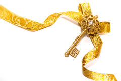 Christmas Golden key Royalty Free Stock Image