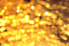 Christmas golden lights Stock Photo