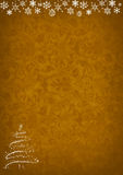 Christmas golden pattern background Stock Image