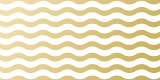 Christmas golden pattern background template for greeting card design. Vector gold wave and white stripe abstract pattern for Chri Stock Photos