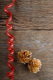 Christmas  Golden Pine Cones background Royalty Free Stock Image