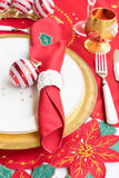 Christmas golden plate Royalty Free Stock Image