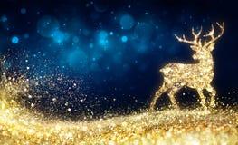 Christmas - Golden Reindeer stock illustration