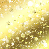 Christmas. Golden christmas. Seamless background with snowflakes and stars Royalty Free Stock Photos