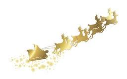 Christmas golden sleigh Stock Photo