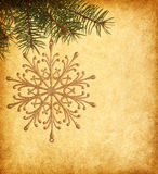 Christmas golden snowflake Stock Image