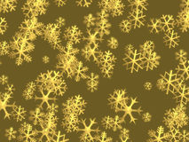 Christmas golden snowflakes background Stock Photography