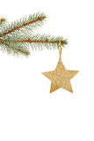 Christmas golden star Stock Photos