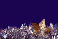 Christmas golden star Royalty Free Stock Photos
