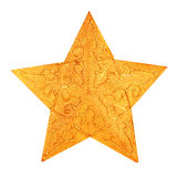 Christmas golden star decoration Stock Images