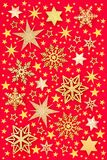 Christmas Golden Star and Snowflake Background