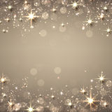 Christmas golden starry background. Royalty Free Stock Images