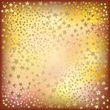Christmas golden stars abstract background Royalty Free Stock Photo