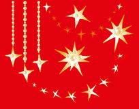 Christmas golden stars Stock Images
