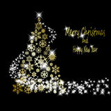 Christmas golden tree Stock Photos