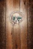 Christmas golden wreath Stock Photo
