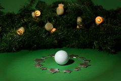 Christmas golf Stock Images