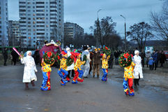 Christmas in Gomel. Royalty Free Stock Photo
