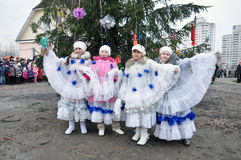 Christmas in Gomel. Royalty Free Stock Images