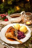 Christmas goose Stock Photography