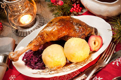 Christmas goose Stock Photo