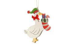 Christmas Goose Ornament Royalty Free Stock Image