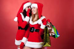 Christmas gossip Royalty Free Stock Photography