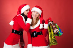 Christmas gossip Royalty Free Stock Photos