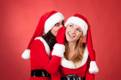 Christmas gossip Stock Photo