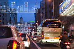 Christmas in Gran Via Stock Photography