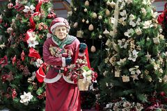 Christmas Granny Royalty Free Stock Photography