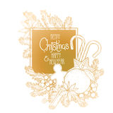Christmas graphic design Royalty Free Stock Images