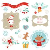 Christmas graphic elements Stock Photo