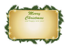 Christmas grass card design Royalty Free Stock Photos