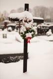 Christmas graveyard Stock Image