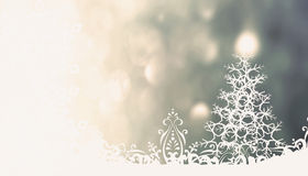 Christmas gray background with Christmas tree Royalty Free Stock Images