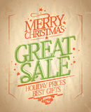 Christmas great sale design. Stock Photo