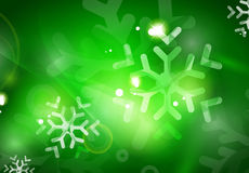 Christmas green abstract background  Stock Image