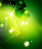 Christmas green abstract background with white Stock Photo