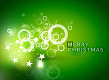 Christmas green abstract background with white. Christmas green color abstract background with white transparent snowflakes. Holiday winter template, New Year Royalty Free Stock Photo