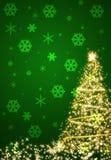 Christmas green background. Backdrop background tree bauble blur celebrate celebration stock illustration