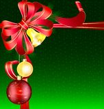 Christmas green background Stock Photography