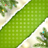 Christmas green background Royalty Free Stock Photography