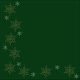 Christmas green background. With snowflakes for Christmas greeting or background Royalty Free Stock Photo