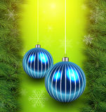 Christmas green background Royalty Free Stock Images
