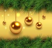 Christmas green background stock illustration