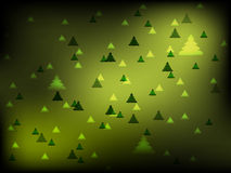 Christmas green background with pines Royalty Free Stock Photos