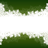 Christmas green background. With snow. vector illustration Stock Photo