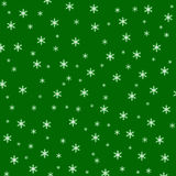 Christmas green background with snowflake Stock Photo
