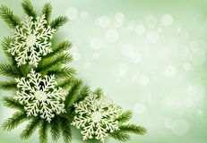 Christmas green background with tree branches Stock Photography